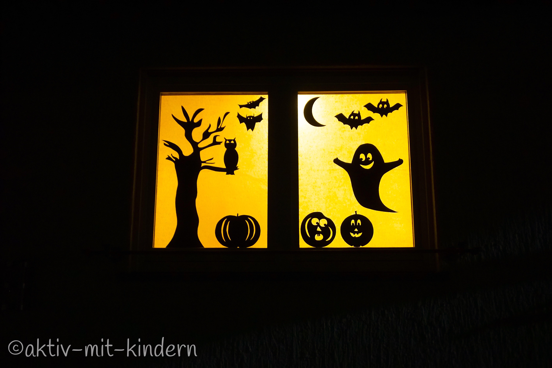 Lasset uns gruseln unser halloween fenster aktiv mit - Halloween fenster projektion ...